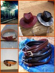 Ceintures - chapeaux en cuir