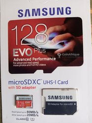 Carte mémoire Samsung EVO - 128 Go