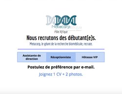 Recrutement - Réceptionniste / assistante de direction