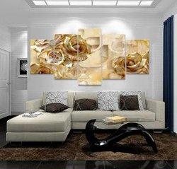 Tableau floral marron beige