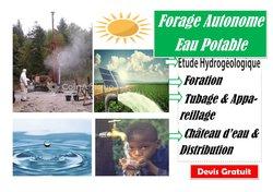 Réalisation forage eau potable autonome