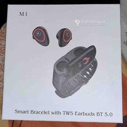 Smart bracelet with Tws earbuds bt 5.0