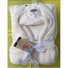 Couverture bébé à capuche d'ours Carter Love