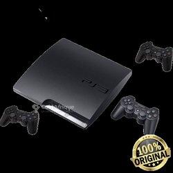 Playstation 3 slim - 250go - 3 manettes bluetooth - 2 câbles de rechargement de manettes - 20 jeux intégrés