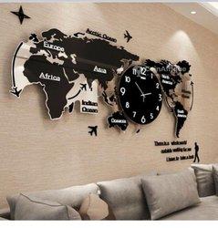 Horloge murale - Carte du monde