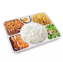 Assiettes rectangulaire  - 6 compartiments