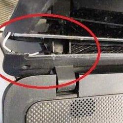 Réparation de coudes de pc portable cassés