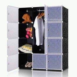 Armoire penderie portable - cube montable - démontable