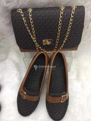Ensemble  sac à main et chaussures femme en cuir