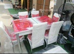Table à manger - 6 chaises coulissantes