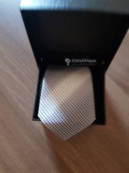 Cravate noeud + bouton  manchette