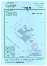 Vente 2 parcelles jumelées 777 m² - Kossi