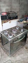 Cuisinière à gaz 5 foyers pur inox