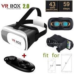 Casque de réalité virtuelle VR Box avec télécommande