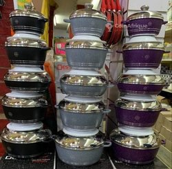Lot de 5 casseroles dessini anti-adhésif