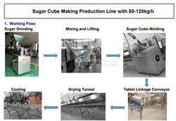 Machines ligne industrielle production Sucre