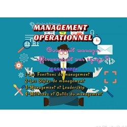 Formation management opérationnel