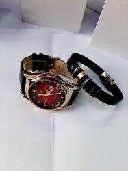 Montre et bracelet en cuir
