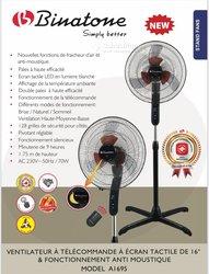 Ventilateur Binatone tactile à télécommande