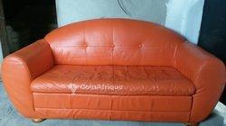 Canapé 2 places en cuir