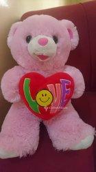 Peluche teddy pink love