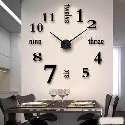 Horloge mural moderne métallique 3D