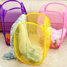 Panier à linge pliable en maille pour enfant
