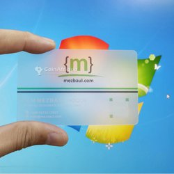 Réalisation de carte de visite en pvc transparent