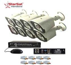 Ensemble 8 caméras de surveillance Starsat HD
