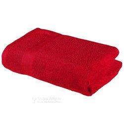 Serviette de bains rouge
