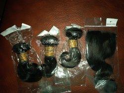 Cheveux naturels semi-ondulés