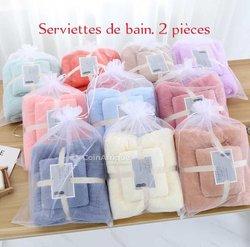 Serviettes de bains - 2 pièces
