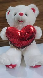 Peluche ours blanc Teddy Love