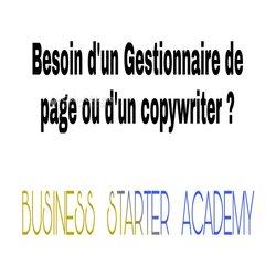 Copywriter - gestionnaire de page