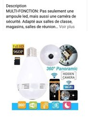Ampoule caméra de surveillance 360°