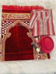 Ensemble tapis de prière - jalaba - montre
