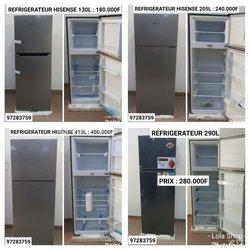 Réfrigérateurs Neon & Hisense