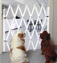 Barrière extensible pour animaux - bois blanc