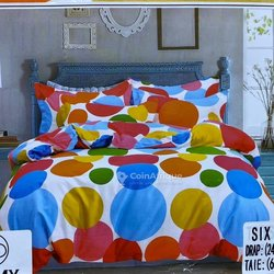 Drap en coton 100% avec couverture simple + 4 taies d'oreillers
