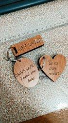 Porte-clés en bois personnalisés