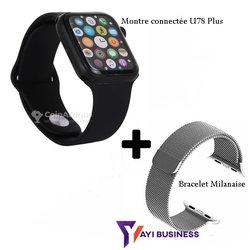 Montre connectée + bracelet milanaise