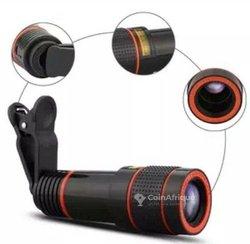 Zoom objectif télescope × 12 pour smartphone et appareil photo