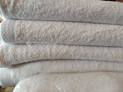 Serviette de bain blanc 1m50 sur 1m