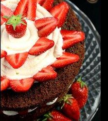 Gâteau au chocolat et à la fraise