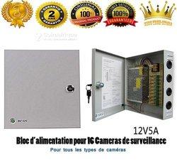 Boîte d'alimentation caméra 16 ports 12v5a
