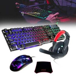 Kit gaming casque - clavier - souris - tapis