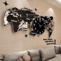 Horloge avec la carte du monde
