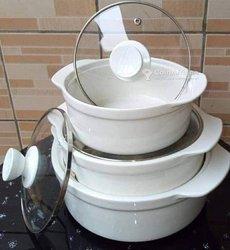 Lot 3 soupières en porcelaine