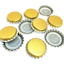 Capsules dorées pour bouteilles