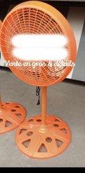 Ventilateur pied rond couleur orange